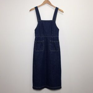 GAP Denim Overall Midi Dress